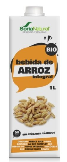 BEBIDA DE ARROZ INTEGRAL BIO 1L SORIA NATURAL