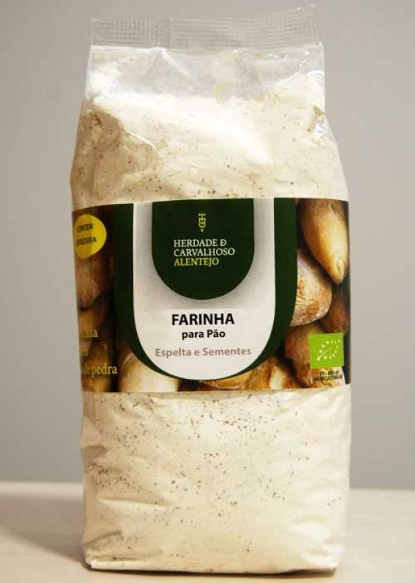 Farinha bio pão espelta sementes