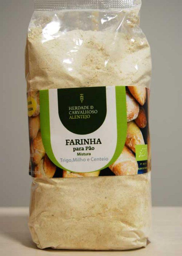 Farinha bio pão trigo milho centeio HC