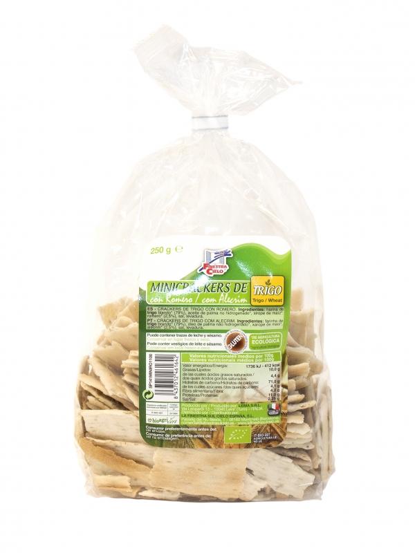 Mini Crackers Trigo C/Alecrim 250gr