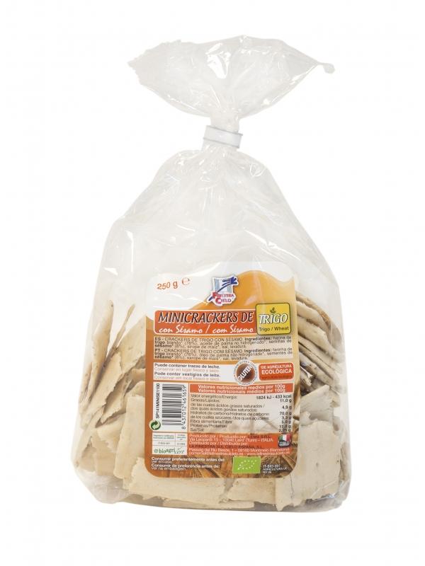 Mini Crackers Trigo C/Sésamo 250gr