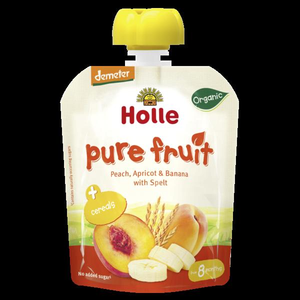 Pure pessego alperce banana espelta Holle