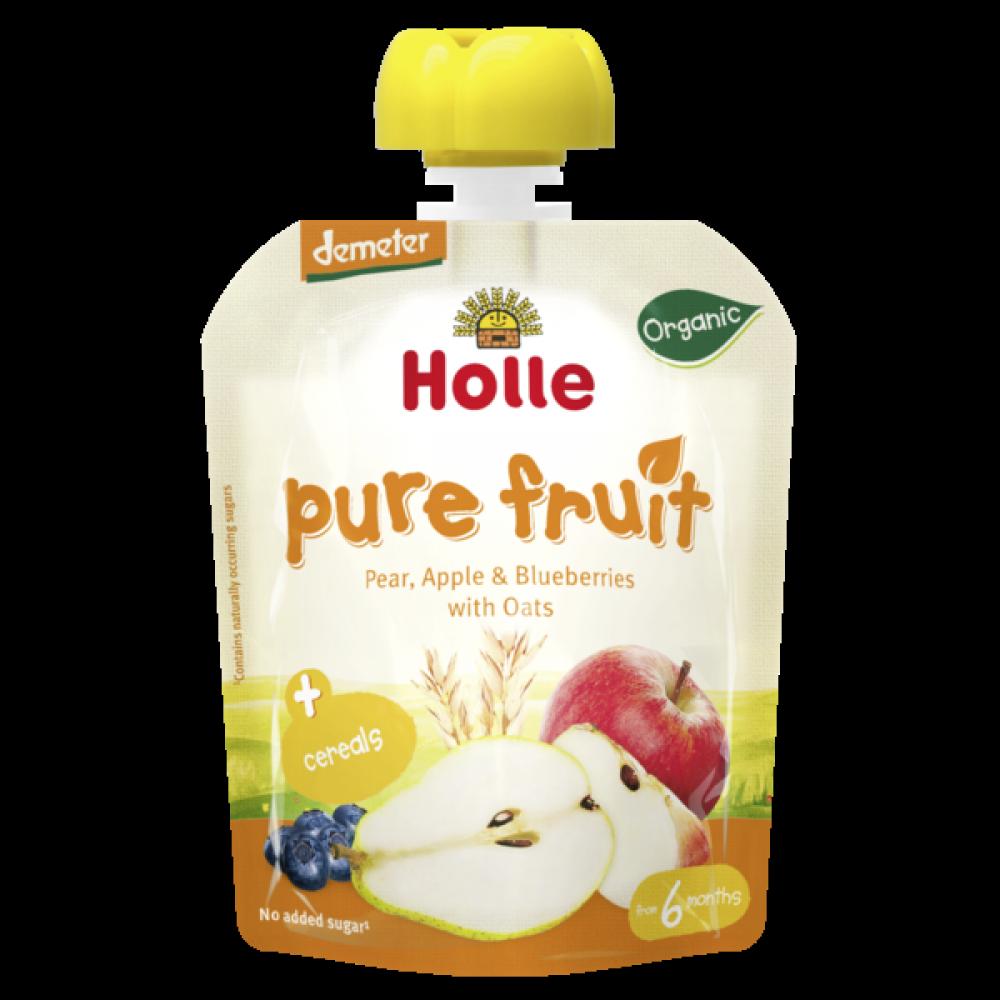 Pure maça pera mirtilo aveia Holle