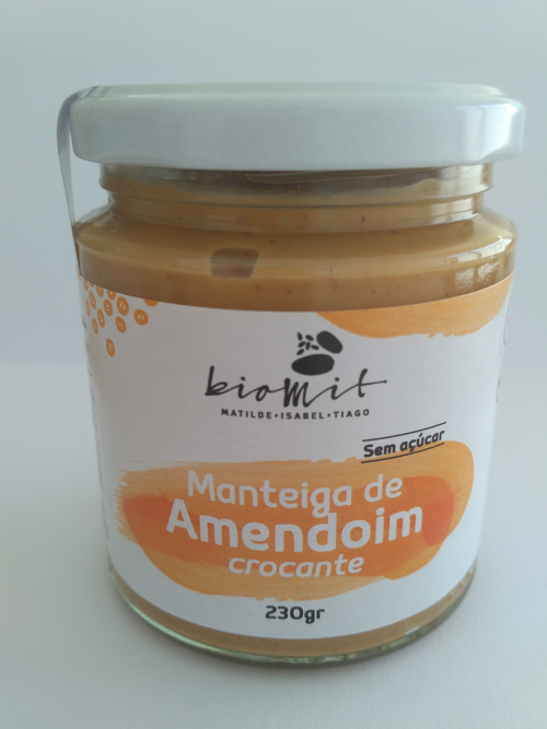 Manteiga de amendoim crocante Biomit 230g