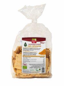 Mini crackers espelta c/curcuma e pimenta preta