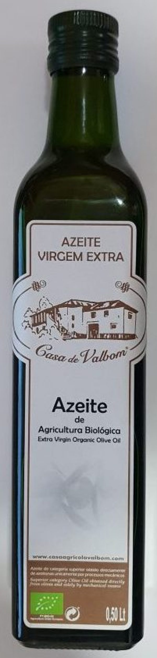 AZEITE VIRGEM EXTRA BIO 0,50LT CASA DE VALBOM
