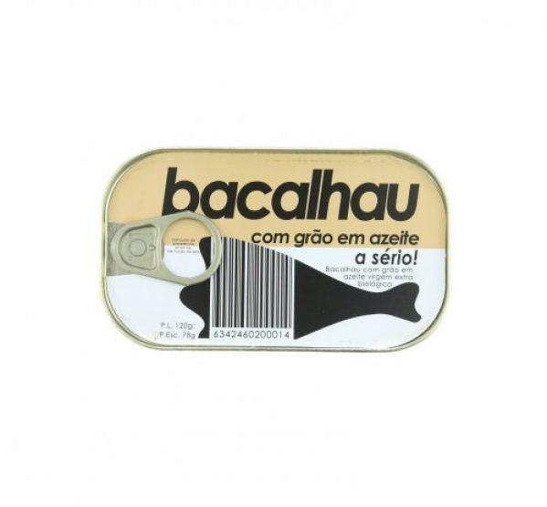 BACALHAU C/GRÃO EM AZEITE BIO