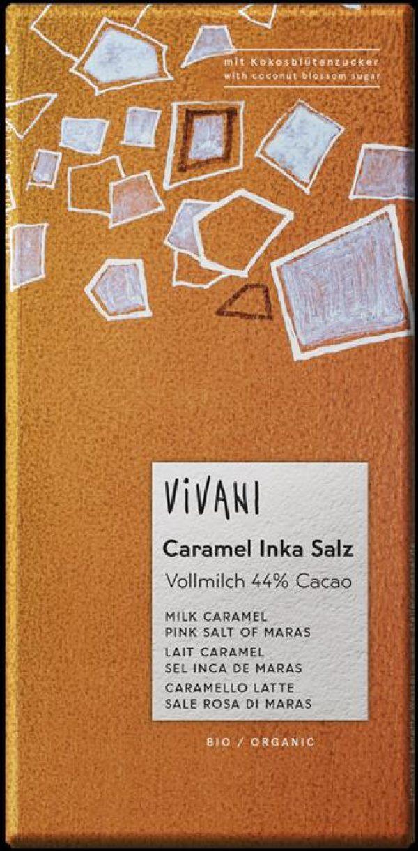 CHOCOLATE CARAMELO C/SAL DOS INCAS BIO 44%CACAU 80GRS VIVANI