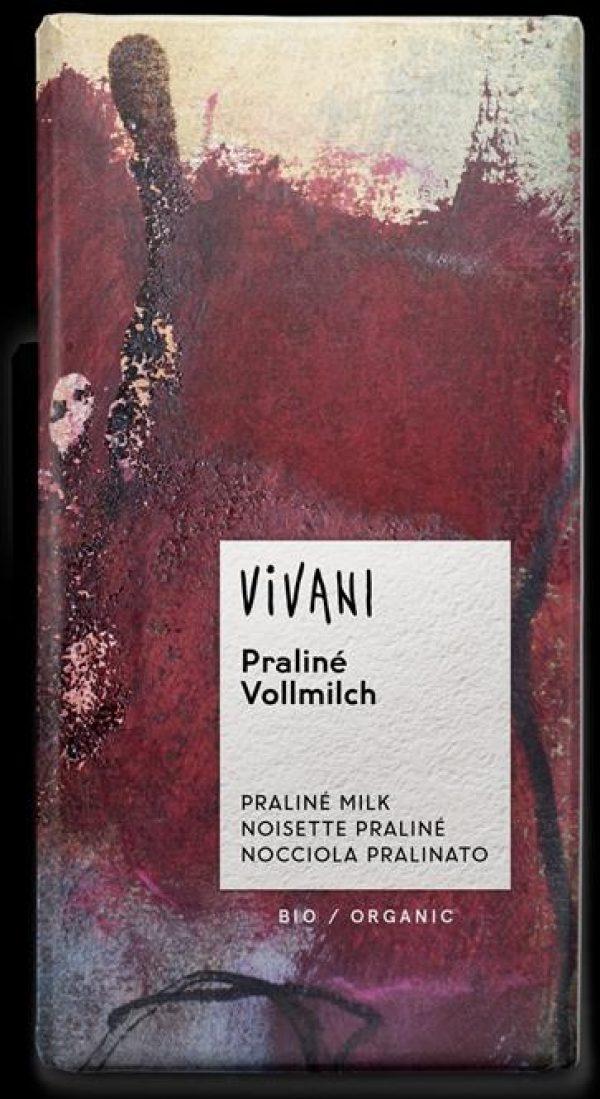 CHOCOLATE C/PRALINE BIO 100GRS VIVANI