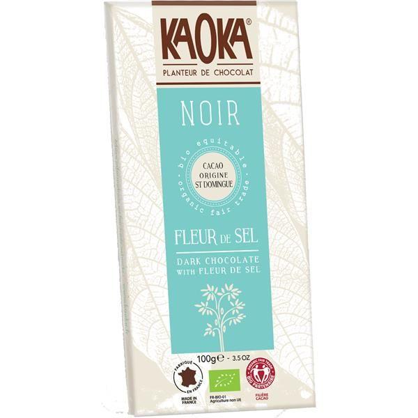 CHOCOLATE NEGRO 70% CACAU C/FLOR DE SAL BIO 100GRS KAOKA