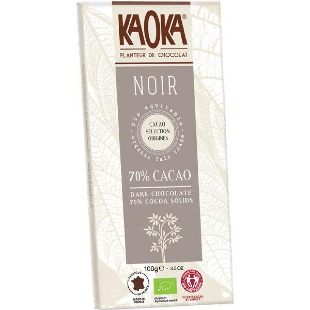 CHOCOLATE NEGRO BIO 70% CACAU KAOKA