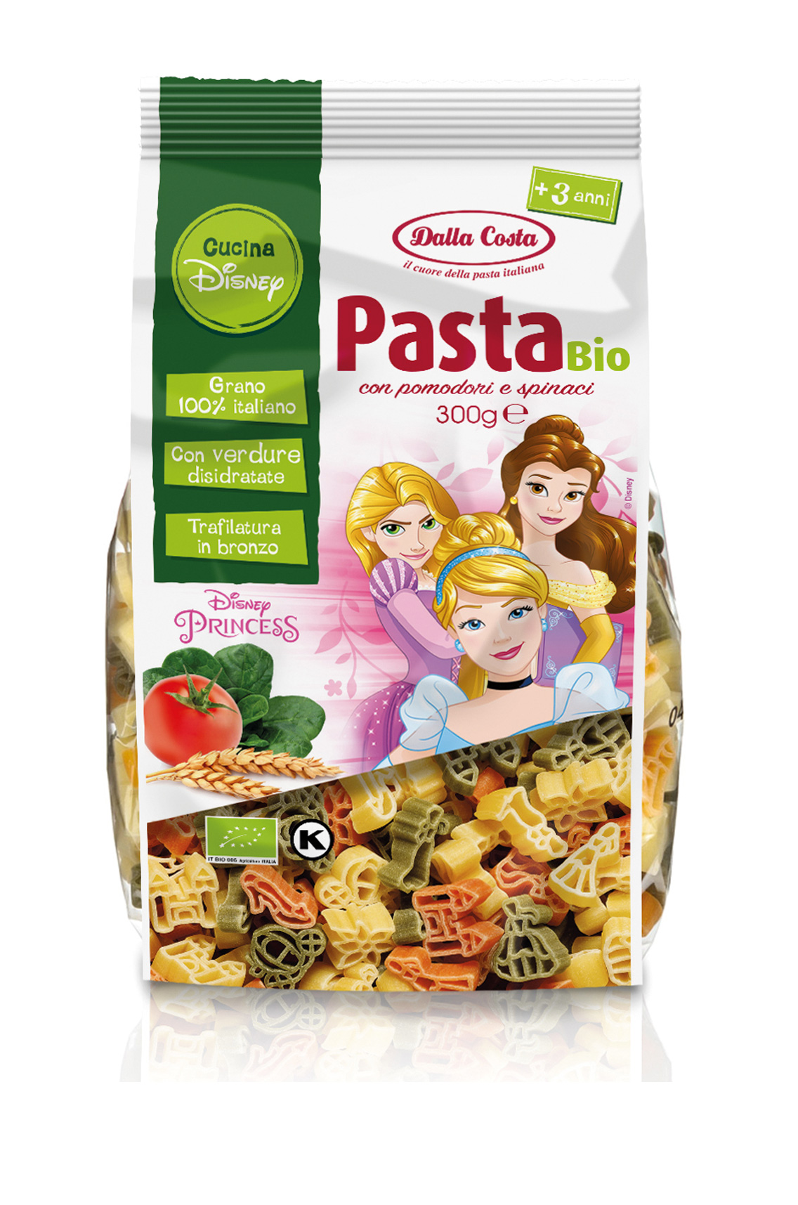 MASSA TRICOLOR DISNEY PRINCESAS BIO 300G DALLA COSTA