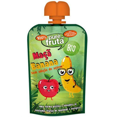Puré Fruta/Doypack Banana & Maçã S/Glúten BIO
