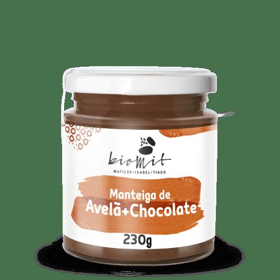 MANTEIGA DE AVELA + CHOCOLATE BIOMIT 230G