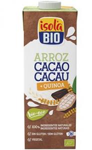 (Português) BEBIDA DE ARROZ E QUINOA COM CACAU BIO ISOLA 1L