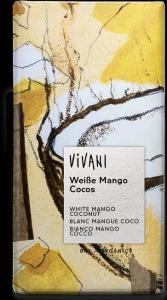 CHOCOLATE BRANCO C/MANGA E CÔCO BIO 80GRS VIVANI