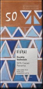 CHOCOLATE LEITE BIO 50% CACAU 80GRS VIVANI