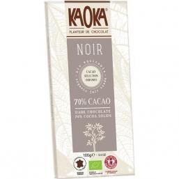 CHOCOLATE NEGRO BIO 70% CACAU 100GRS KAOKA