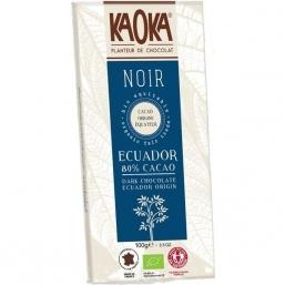 CHOCOLATE NEGRO BIO 80% CACAU 100GRS KAOKA