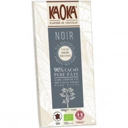 CHOCOLATE NEGRO BIO 90% CACAU 100GRS KAOKA
