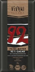 CHOCOLATE ESCURO 92% CACAU 80GRS