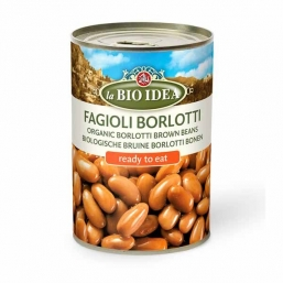 BORLOTTI BROWN BEANS LA BIO IDEA 400GRS