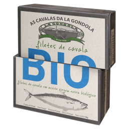 Filetes de Cavala em Azeite virgem extra bio 120gr