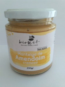 MANTEIGA DE AMENDOIM CREMOSA BIOMIT 230G