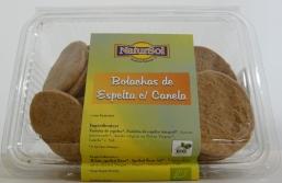 BOLACHA ESPELTA COM CANELA BIO 200G NATURSOL