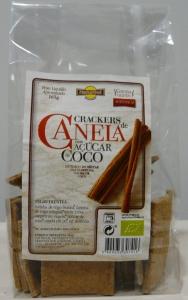 CRACKERS CANELA COM AÇÚCAR DE COCO BIO 160G NATURSOL