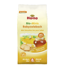 TOSTAS MINI MEL MANTEIGA 8M BIO 100G HOLLE