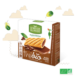 BISCOITOS  DOUBLE CHOCOLATE BIO TWIBIO