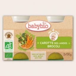 Boiões brócolos cenoura Bio 2x130g Babybio