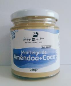 Manteiga de amêndoa + côco Biomit 230g