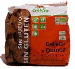 BOLACHAS DE QUINOA S/ GLUTEN BIO 200G CELISOR