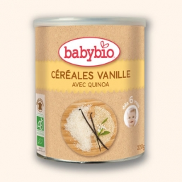 Farinha Cereais Baunilha Bio 220g Babybio
