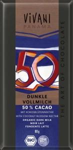 CHOCOLATE LEITE 50% CACAU 80GRS