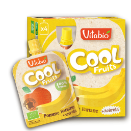 PURÉ MAÇÃ BANANA BIO 90G COOL FRUITS