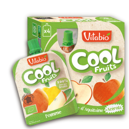 PURÉ MAÇÃ BIO 90G COOL FRUITS