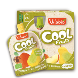 PURÉ MAÇÃ PÊRA WILLIAMS BIO 90G COOL FRUITS