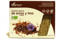 TOSTAS DE ARROZ E LINHAÇA BIO 25X3,4G SORIA