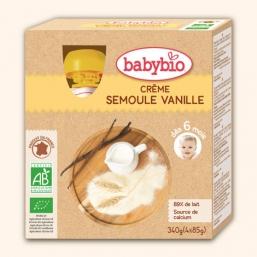 Sobremesa láctea sémola baunilha Bio 85g BabyBio