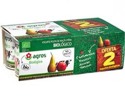 Iogurte Biologico Polpa Maca/Pera 6X125g