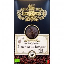 CHOCOLATE NAU CACAU SAO TOME C/PIMENTA DA JAMAICA 66%
