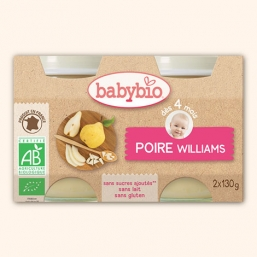 BOIÕES PÊRA WILLIAMS BIO 2X130G BABYBIO