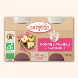 Boiões maçã ameixa Bio 2x130g Babybio