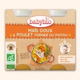 Boiões legumes frango Bio 2x200g Babybio