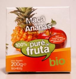 PURÉ MAÇÃ E ANANÁS BIO 2X100G