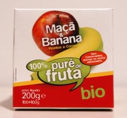 PURÉ DE BANANA E MAÇÃ bio 2X100G