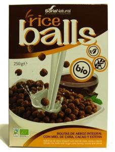 RICE BALLS DE ARROZ C/ CHOCOLATE BIO 250G SORIA